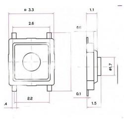 Microswitch 3x3x1.5mm 4pin
