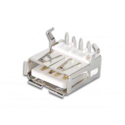 Ficha / Conector USB Horizontal Fêmea Tipo A
