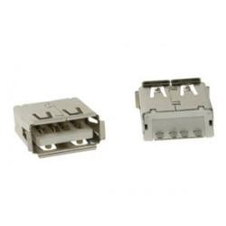 Ficha / Conector USB A Fêmea de Painel 180º