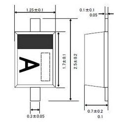 Diodo A8, B8 e AB - 1SS355
