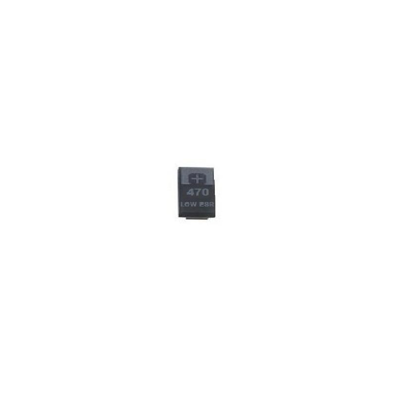 Condensador de Tantalo 470uf 2,5V LOW ESR 7