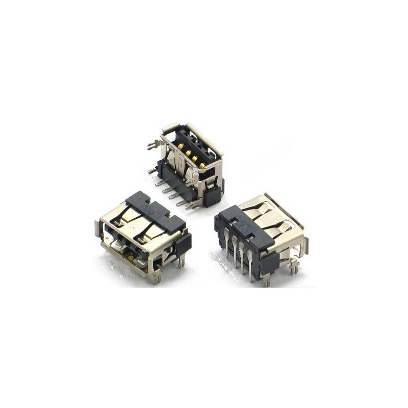 Ficha / Conector USB  10mm TOP Mount invertida