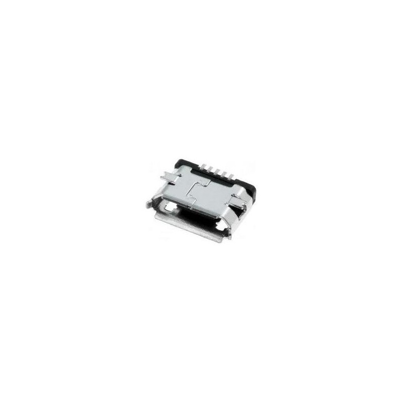 Ficha Mini USB 5 pinos 90º tipo B