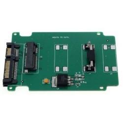 Adaptador mSATA Mini PCI-E SATA SSD To 7+15 Pin 22 pin SATA